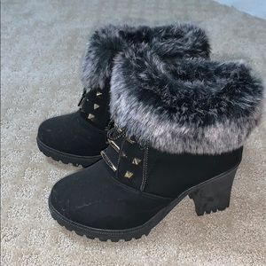 NEVER WORN! Furry Winter Booties